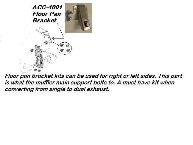 Floor Pan Bracket (Stainless)...................