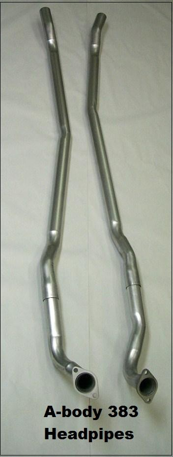 A-Body 383 - 440 Head pipes (Pair) 67-69