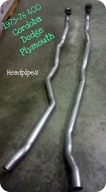Headpipes 1975-76 Plymouth, Dodge, Cordoba 400, 2.25