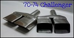 Stainless Tips, Challenger, 1970-1974, PAIR