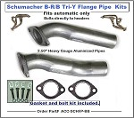 Schumacher Tri-y Header Flange Pipes