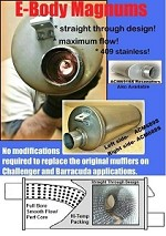 Magnum Series E-Body Mufflers PAIR